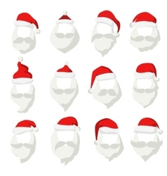 Portrait santa claus face cut mask silhouette vector