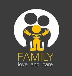 Family love care logo vector