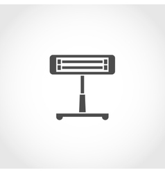 Infrared heater icon vector