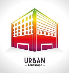 Urban and cityscape design vector