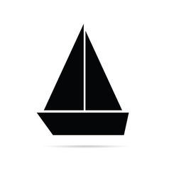 Boat marine icon vector