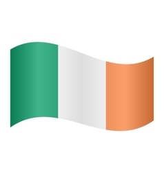 Flag of ireland waving vector