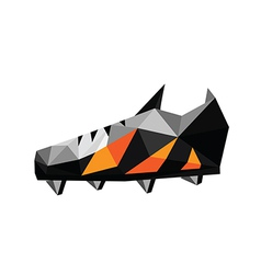 Abstract polygonal soccer shoes vector image vector image
