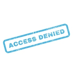 Access denied text rubber stamp vector