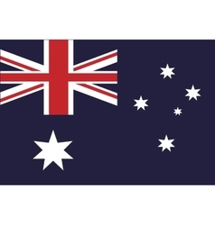 Australian flag country symbol vector