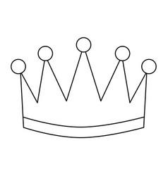 award crown honor winner success icon vector image vector image