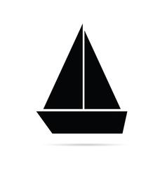 Boat marine icon vector