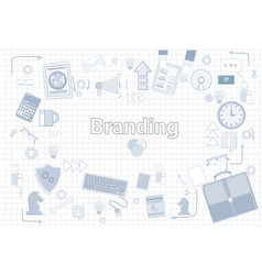 branding creation and development concept keyword vector image