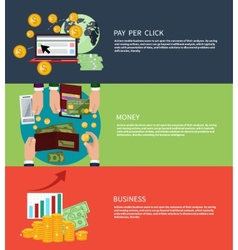 Business money and pay per click vector