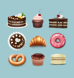 confectionery set vector image