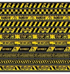 Crime accident scene caution warning police vector