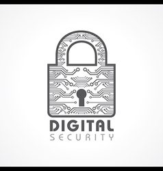 Digital security concept vector
