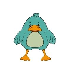 Duck animal cartoon vector