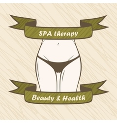 Female body spa health fitness banner vector