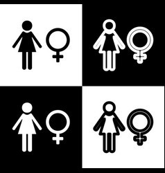 Female sign black and white vector