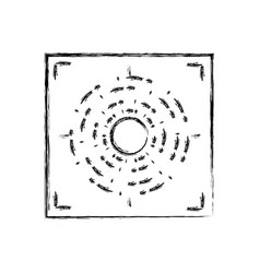 Figure gun sight circle with shooting focus vector