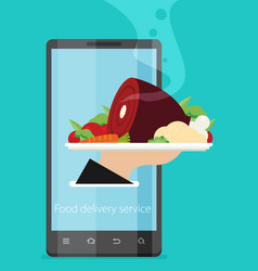 Food delivery service flat vector