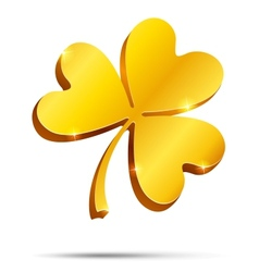 Golden clover vector image