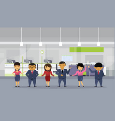 group of asian business people wearing suits in vector image vector image