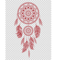 hand drawn native american indian talisman vector image