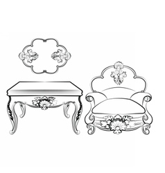 Imperial Royal Set with ornaments vector image vector image