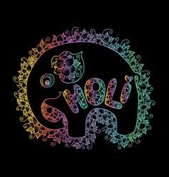 indian elephant with beautiful holi vector image