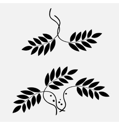Laurel wreath tattoo stylized black ornaments of vector