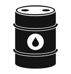 Metal oil barrel icon simple style vector image