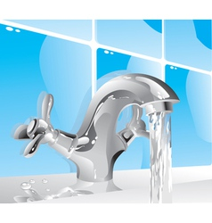 metal water tap vector image
