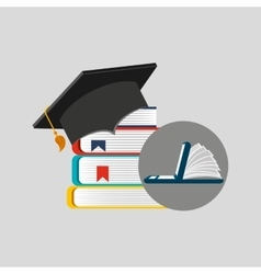 Online learning library education vector