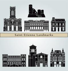 saint etienne landmarks vector image vector image