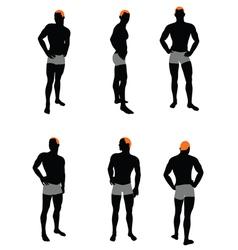 Set of men silhouette vector image vector image