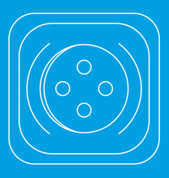 Square button icon outline style vector