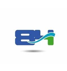 Template logo 85nd anniversary vector