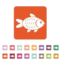 The fish icon Fish symbol Flat vector image