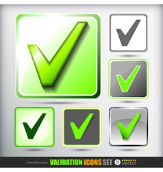 Validation icons set vector