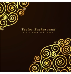 Vintage abstract background with golden vector image vector image