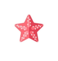 Pink starfish primitive style childish sticker vector
