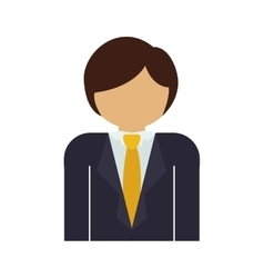Half body man with formal suit and necktie vector