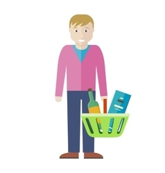 Customer man character vector