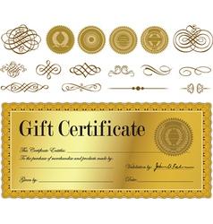Gift certificate set vector