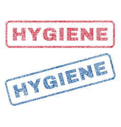 Hygiene textile stamps vector
