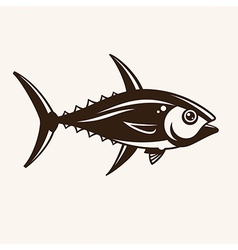 Tuna in one color vector