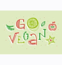Go vegan vector