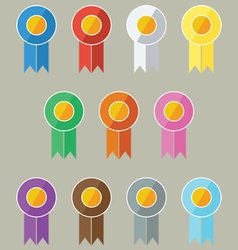 Award-prize ribbons in flat ui design style vector
