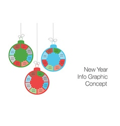 New year and christmas modern business steps to vector