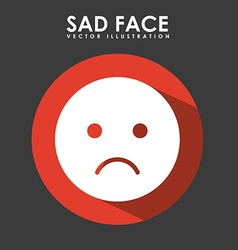 Sad face design vector