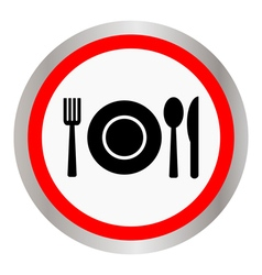 Fork spoon and plate vector