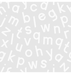 Seamless pattern with alphabet vector