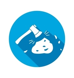 Axe hache tool icon instrument working vector